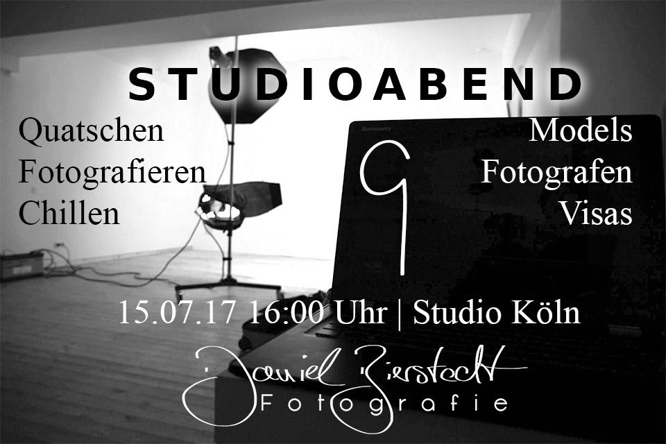 Titelbild für den neunten Studioabend, mit Daten und Beschreibung