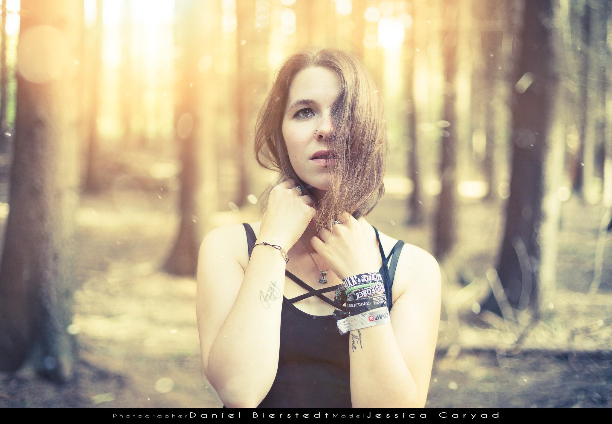 Jessica Caryad im Bürgerbusch